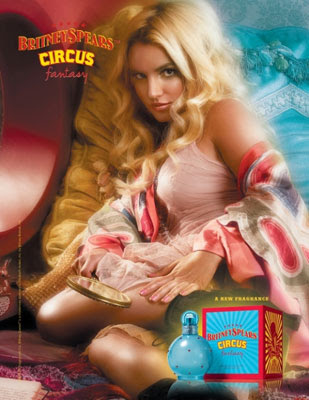 britney spears circus fantasy ad