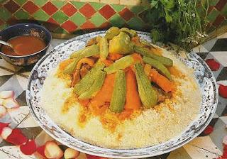 moroccan couscous with seven vegetables couscous marocain sept legumes