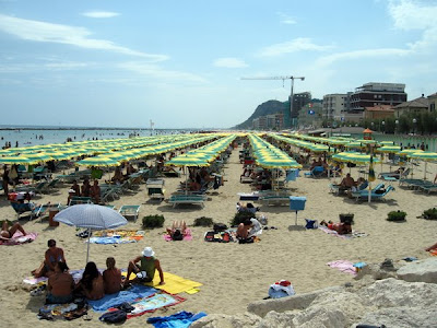 The beach at Pesaro