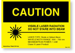 FIBER OPTICS LASER WARNING SIGN