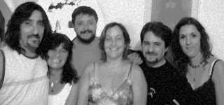 De izquierda a derecha: Walter, Graciela, Sinver, L+L, Johann y la Isla