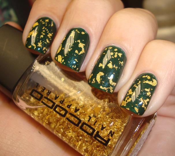 Chloe\'s Nails: Ulta Urban Jungle with Rococo Gold Leaf