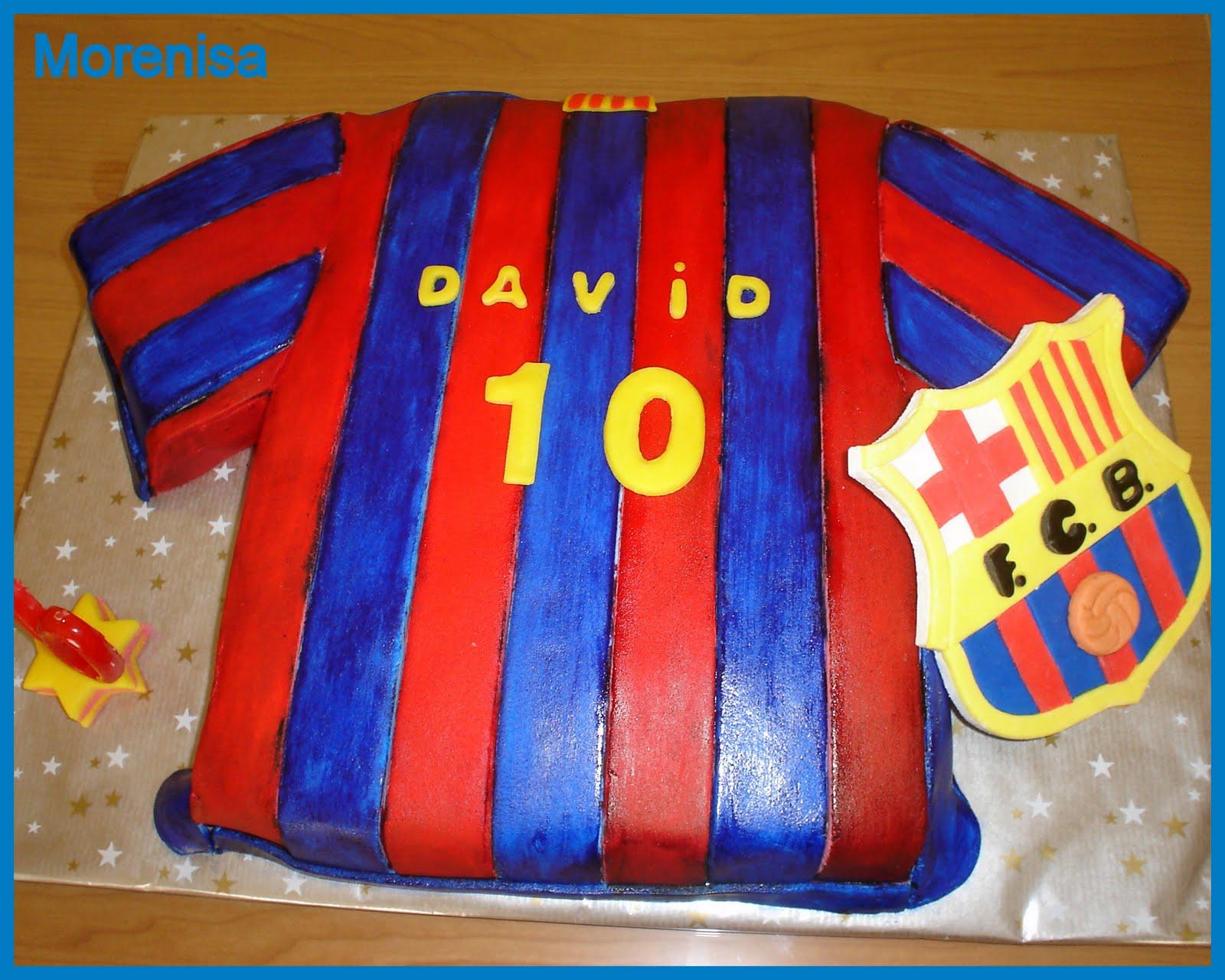 Tarta Camiseta Del FC Barcelona  Fondant