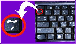 keyboard showing backtick key