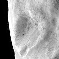 Zoom sobre un deslizamiento de tierra de Lutetia