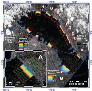 Mapa de Ontario Lacus obtenido por SAR
