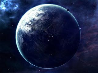 Ilustración artística de un exoplaneta habitado por una civilización inteligente