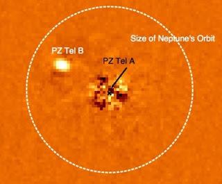 La estrella similar al Sol, PZ Tel A y su compañera enana marrón, PZ Tel B