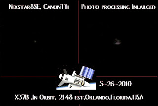 La nave X-37B fotografiada por Brent 'Bozo' el 26 de mayo de 2010 en Orlando, EE.UU.