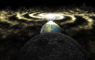 Alineamiento exacto entre el centro de la galaxia y el solsticio del Sol