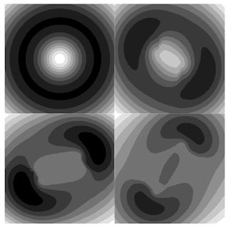 Imágenes de la simulación de la división de un agujero negro