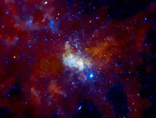 Imagen de la fuente de radio conocida como Sagitario A*