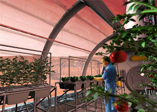 Ilustración artística de una cámara de crecimiento marciana
