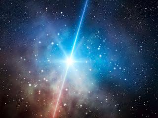 Impresión artística de un estallido oscuro de rayos-gamma
