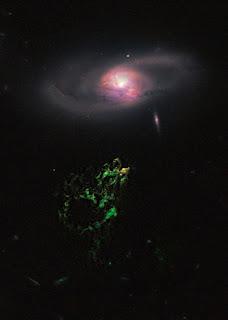 Fotografía del 'Objeto de Hanny' obtenida por el telescopio Hubble