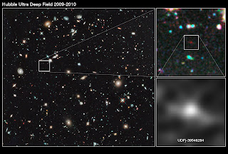 Imagen de la galaxia UDFj-39546284 obtenida por el Hubble
