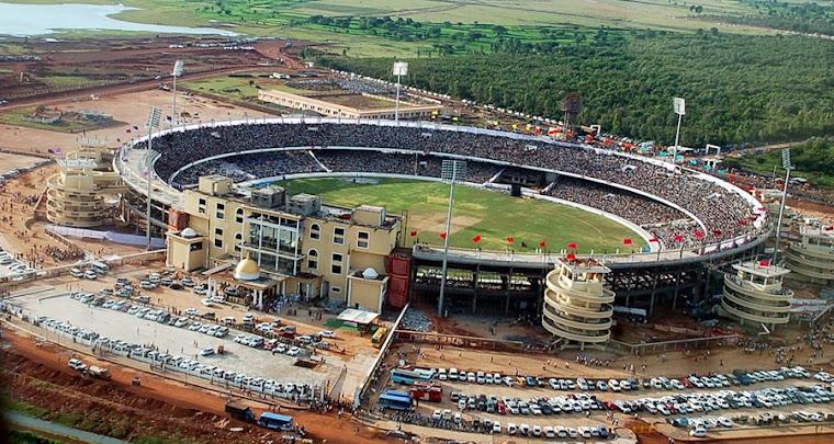 राजधानी के परसदा स्थित अंतरराष्ट्रीय क्रिकेट स्टेडियम का दृश्य। फोटो-गूगल सर्च इंजन से।