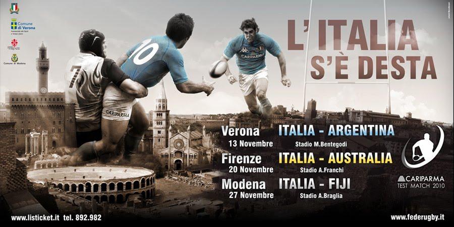 Rugby 2010 - Test match  contro Argentina, Australia, Fiji su La7,  3 sabato alle 15 Test+match+2010