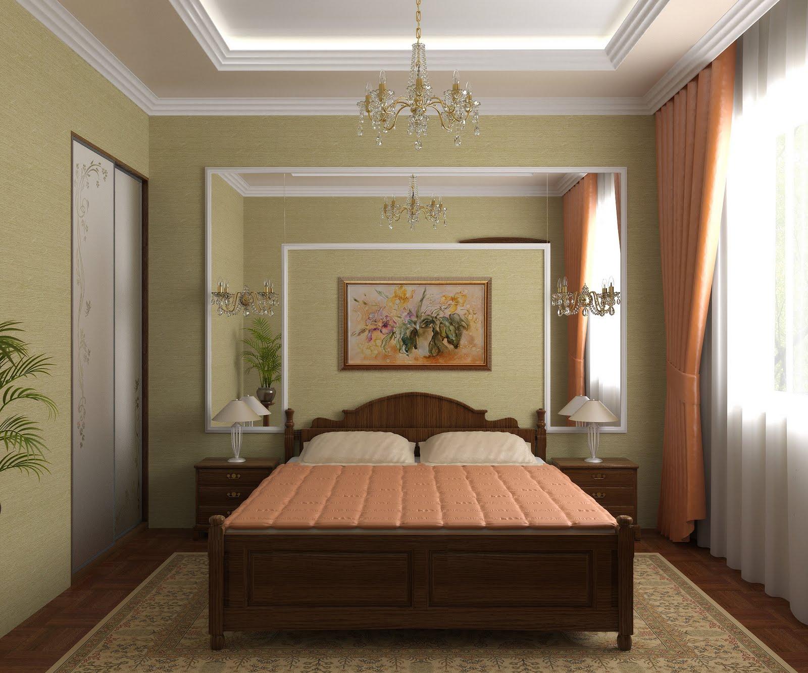Интерьер потолка спальни фото