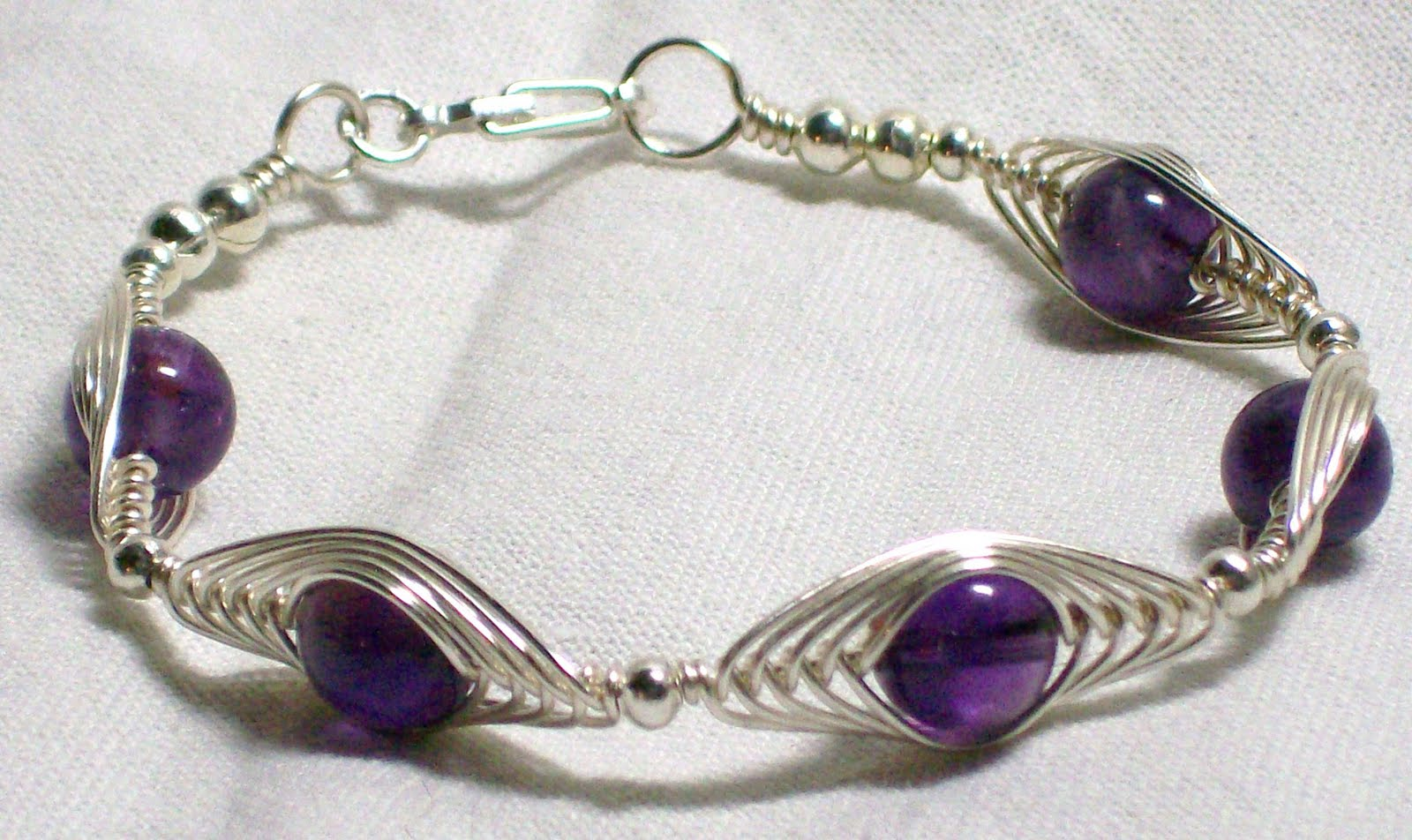 Blue Raven Creations: Amethyst Wire Wrap Jewelry Set