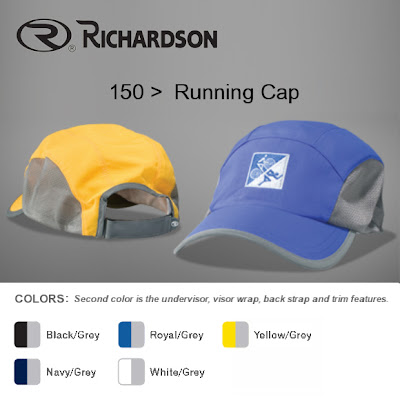 01d2d0548c1c3 ... Richardson 150 Running Cap 150  Water repellent and UV  protection-treated nylon Taffeta fabric  mesh fabric side panels  relaxed