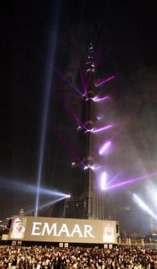 opening photos of Burj Khalifa