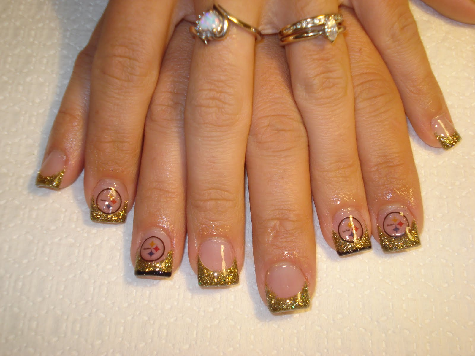 Nails By Amber Go Steelers
