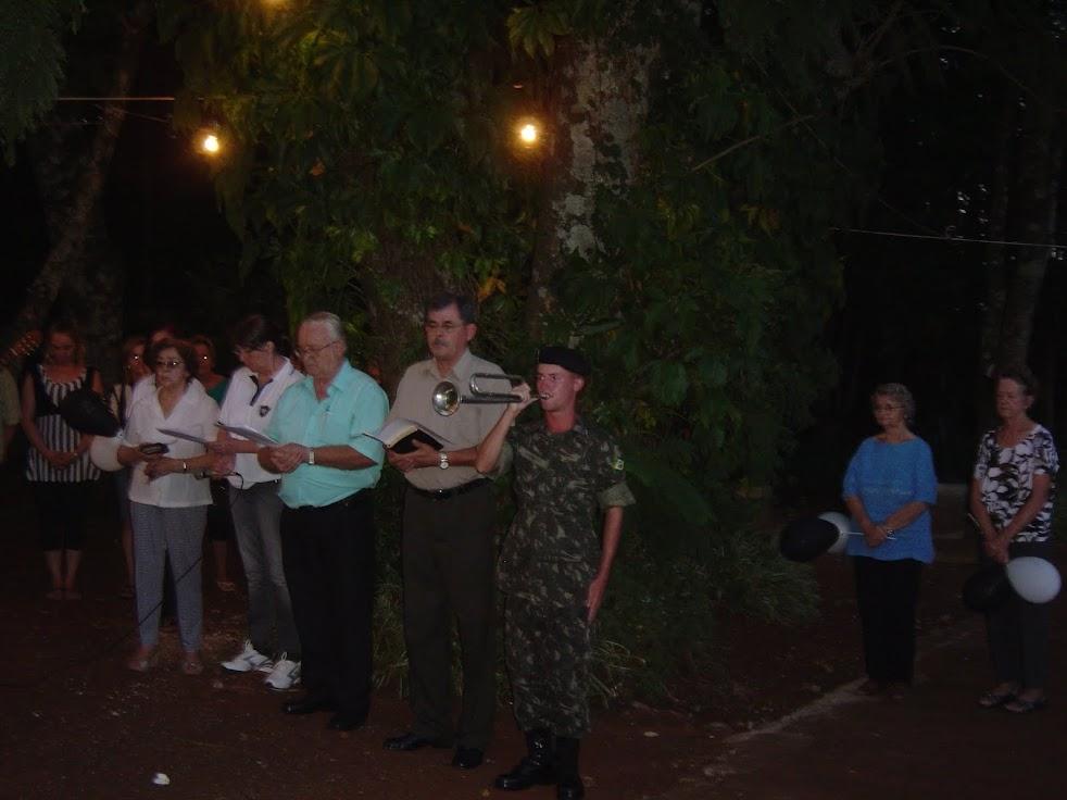Soldado Rafael Augusto Schmidt - Pastor Erni, Ministro Milton e dirigente Eliane