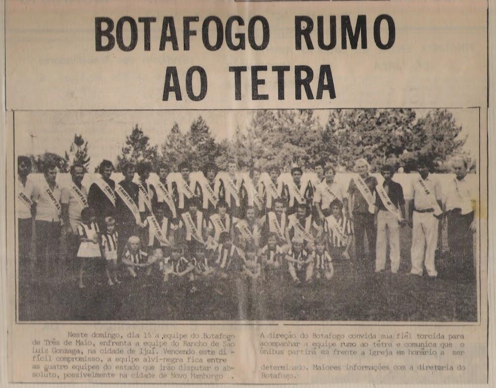 Botafogo rumo ao tetra