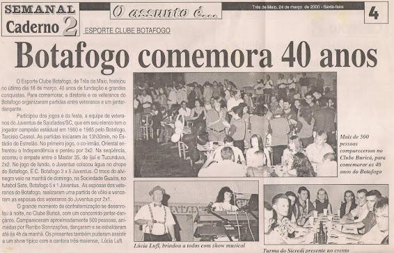 40 anos do Botafogo