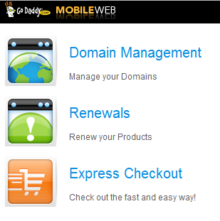 godaddy mobile domain