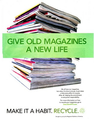 Magazine Publishers of America recycling ad