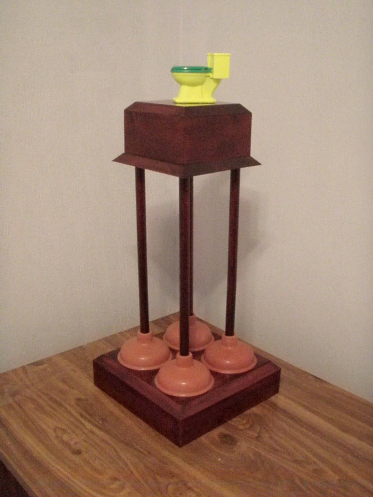 Football Awards Paper Holders Fantasy Toilet Base Roll Pile Of Last Place Trophy
