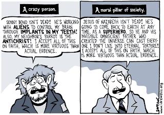 loco o simplemente religioso