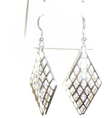 Diamonds silver plated earrings RM13
