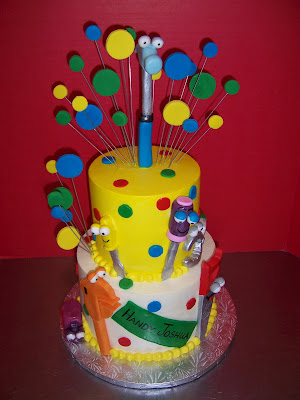 Handy Manny 2-tier cake