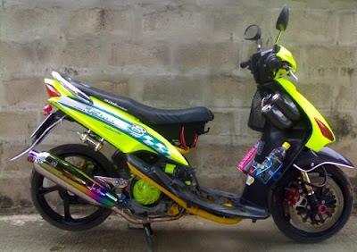 modife motorcycles  Yamaha Mio small wheel