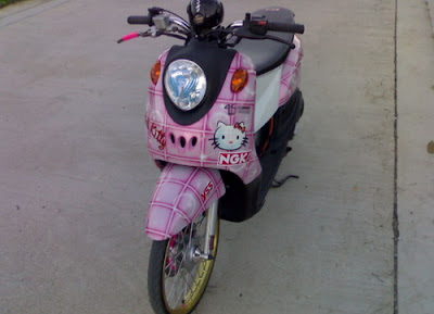 motorcycle ros  Yamaha Fino Kitty style