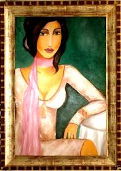 Kobieta z szalem