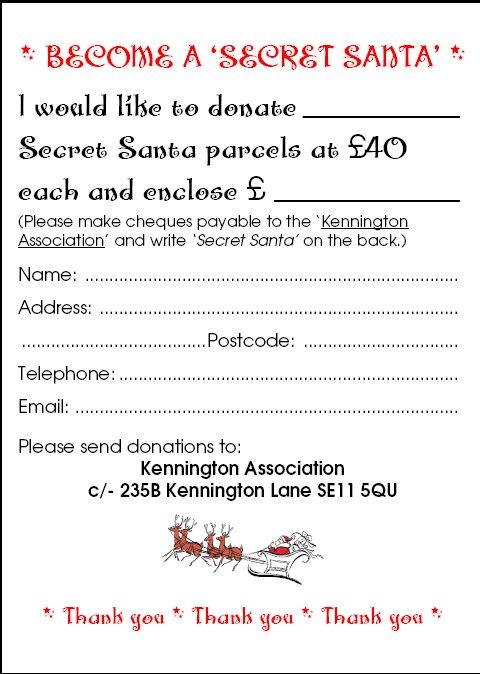 photograph regarding Secret Santa Printable Forms titled Kennington Information: Develop into a Mystery Santa!