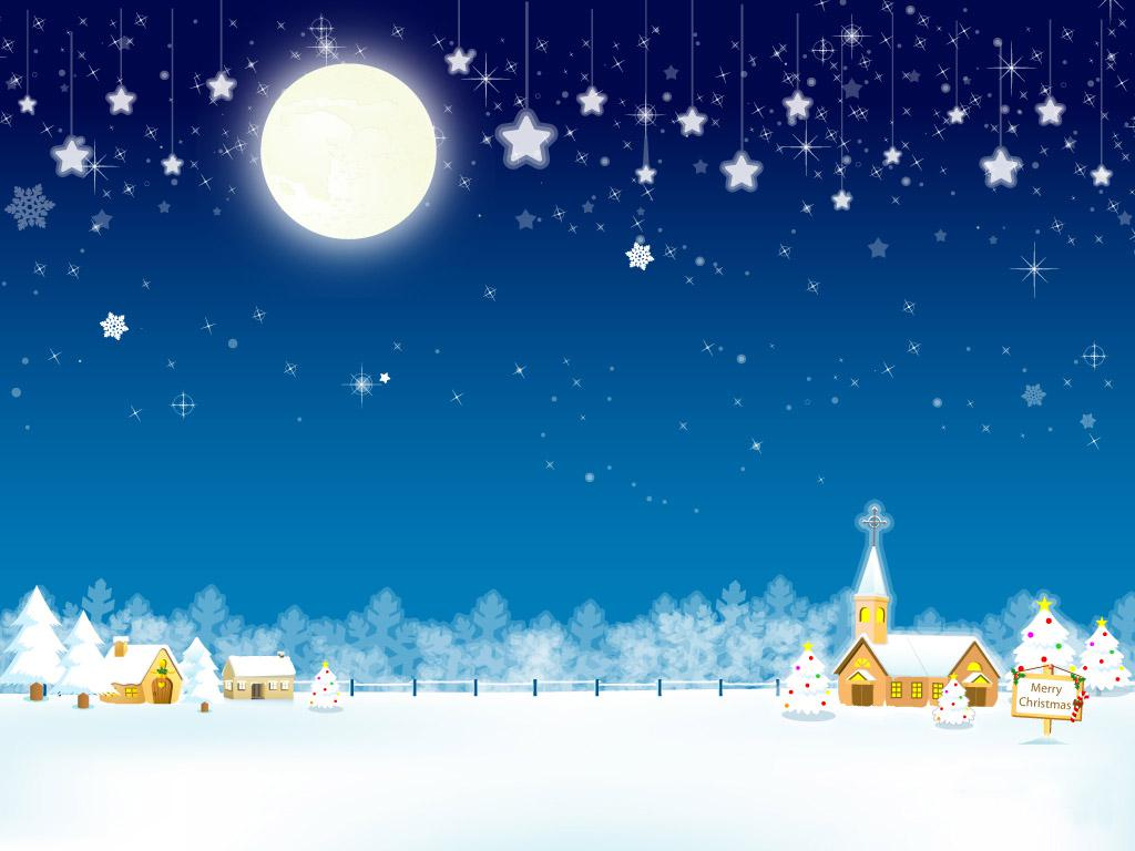 Animated Christmas Snow PowerPoint Backgrounds