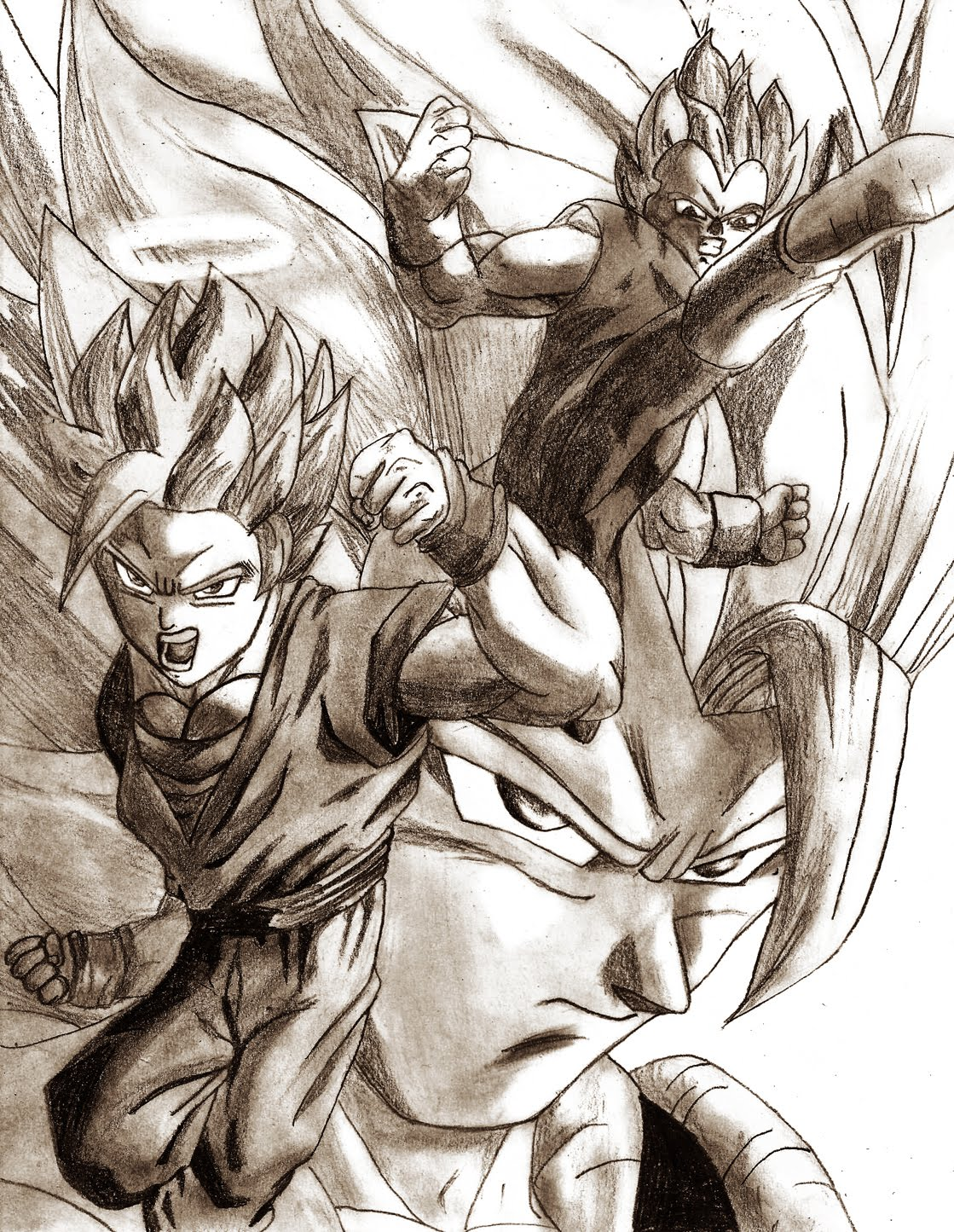 Vegeta Goku Fusion Gogeta  Dragon Ball Z