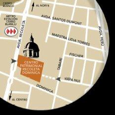 Ubicación Bca. Patrimonial Recoleta Domínica