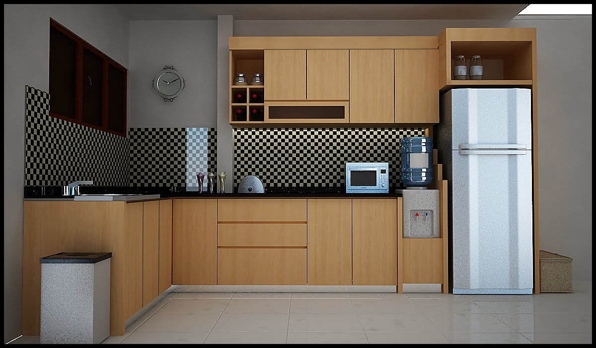 Kitchen mini bar set car interior design for Dapur kitchen set