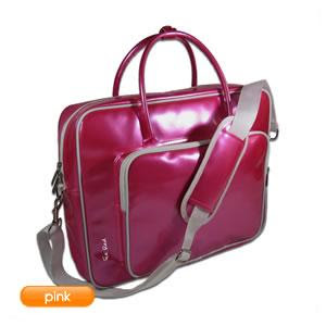 Pink Glossy Laptop Bag from ice red