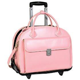 Glen Ellyn pink laptop rolling case