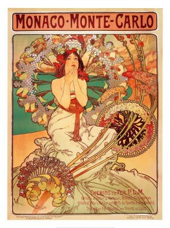 monaco monte carlo mucha. Influenced by Alphonse Mucha