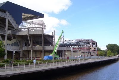 Las obras en el estadio de el molin n continuar n hasta finales del 2010 - Estadio del sporting de gijon ...