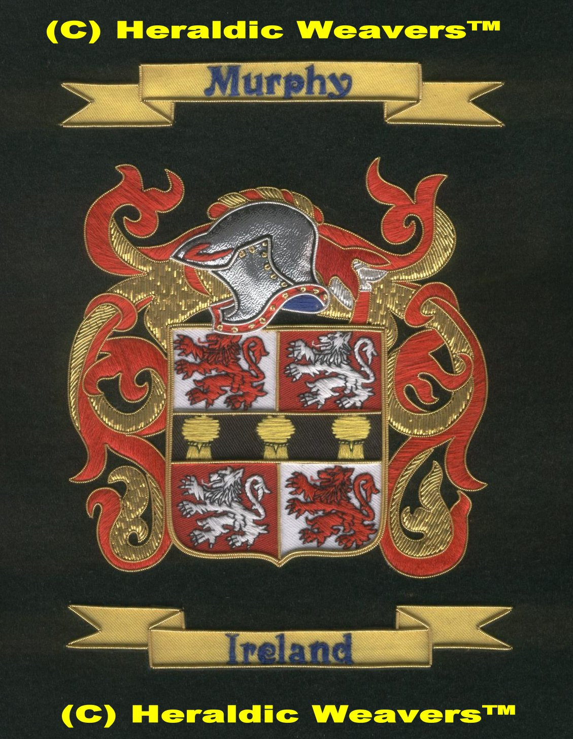 coat of arms irish coats of arms family crest tapestries and