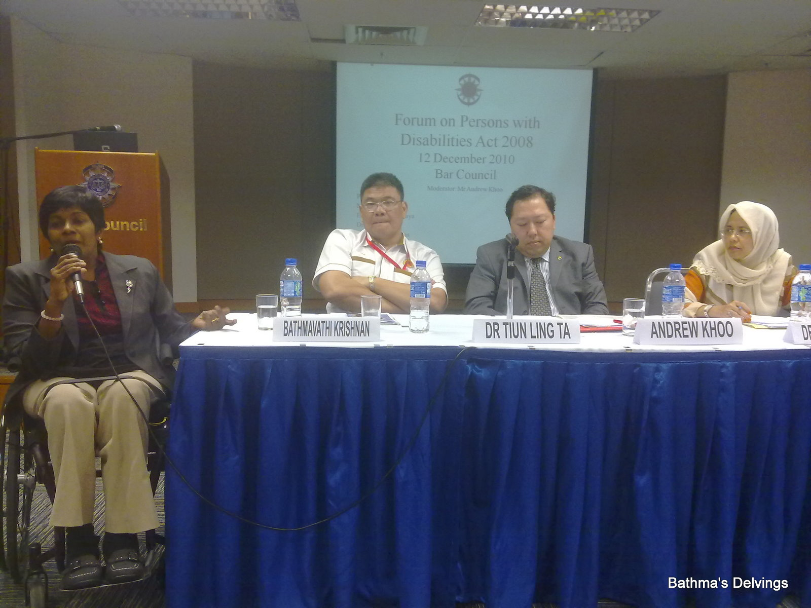 BAR COUNCIL FORUM ON PERSONS WITH DISABILITIES ACT